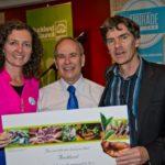 Fairtrade certificate Pippa Coom with Len Brown and Wayne Walker