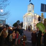 Lighting up the Three Lamps at Ponsonby