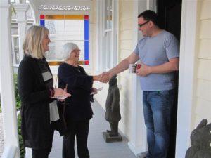 City Vision door knocking Deborah Yates and Tricia Reade