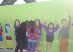Freemans bay school mural Soho Square