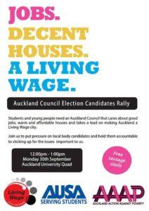 Living wage forum AUSA