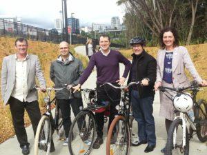 Waitemata Local Board at the opening of Grafton Gully Cycleway
