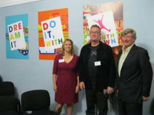 Youthtown CEO Paula Kearns, National Youth Development Manager, Dave Green Board Chair, Michael White