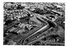 Dominion Road interchange under construction 1967/68