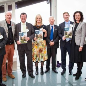 Members of the Waitemata Local Board at the launch of the low carbon plan