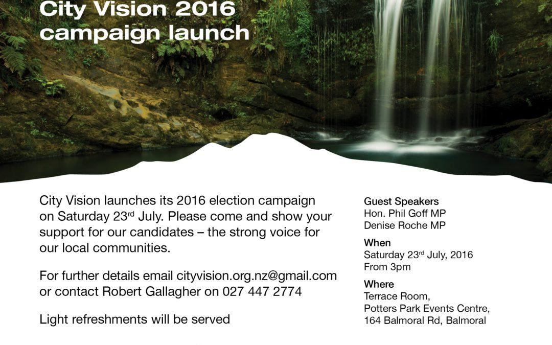 City Vision campaign launch 2016