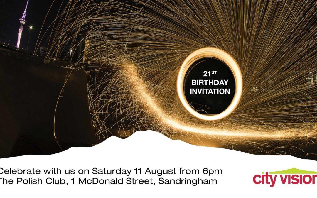 City Vision's 21st birthday celebration