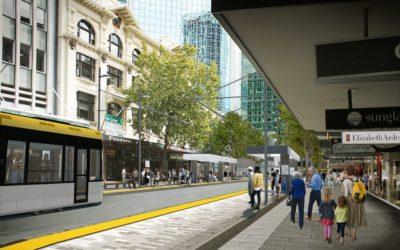The sleek Queen transit mall